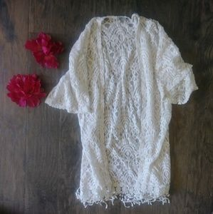 Charlotte Russe lacey swim cover up size small